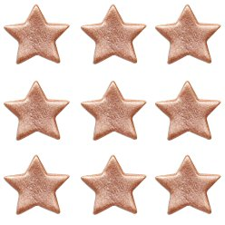 Rose Gold Stars Sugar Toppers - Cake Decoration
