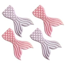 Mermaid Tail Sugar Cake Toppers - 4pk