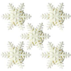 Shimmering Snowflake Sugar Toppers - Cake Decorations