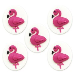Tropical Flamingo Sugar Toppers - Cake Decorations