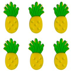 Pineapple Sugar Cake Toppers - 6pk
