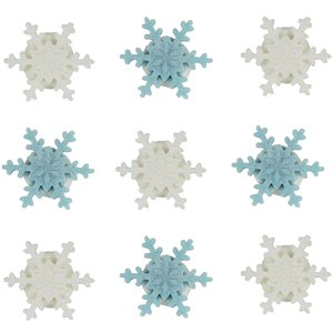 Mini Snowflake Sugar Toppers 9pk