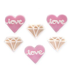 Engagement Sugar Toppers - Cake Decorations