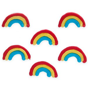 Rainbow Sugar Cake Toppers - 6pk