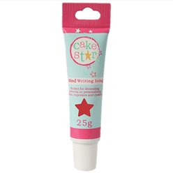 Cake Star Red Icing Writing - 25g