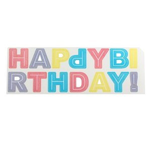 Pastel Happy Birthday Wafer Cake Topper