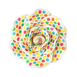 Colourful Dot Gumpaste Rose Cake Topper