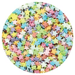 Mini Multi Stars Edible Cake Sprinkles - 60g
