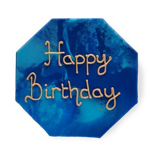 Navy & Gold Geode Happy Birthday Sugar Plaque