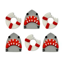 Shark and Life Buoy Sugarcraft Toppers