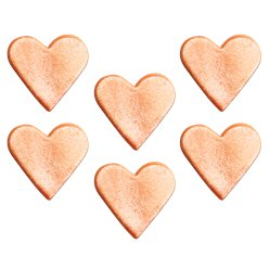 Rose Gold Shimmering Hearts Sugar Decorations