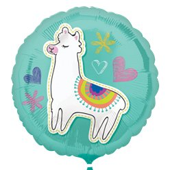 "Selfie Celebration Llama Balloon - 18"" Foil"