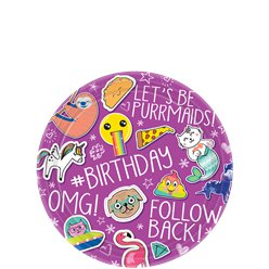 Selfie Celebration Paper Plates - 18cm