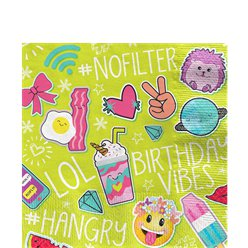 Selfie Celebration Paper Napkins - 33cm