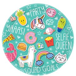 Selfie Celebration Paper Plates - 23cm