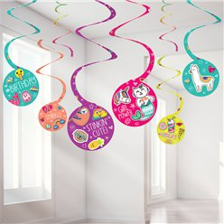 Selfie Celebration Hanging Swirls