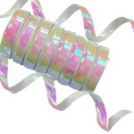 Iridescent Holographic Streamer - 10 Coils
