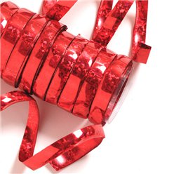 Red Holographic Streamers - 10 coils