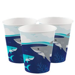 Shark Party Paper Cups 256ml
