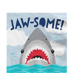 Shark Party Lunch Napkins 33cm 2ply