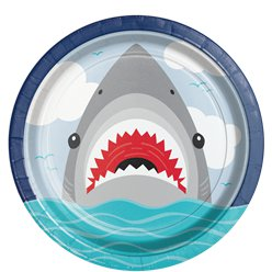 Shark Party Paper Plates 23cm