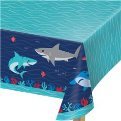 Shark Party Paper Tablecover 1.37cm x 2.59cm