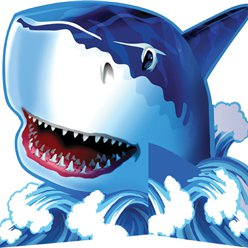 Shark Splash Party Table Centrepiece - 23cm