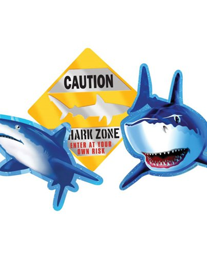 Shark Splash Party Cutout