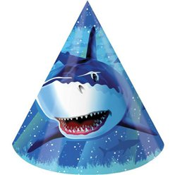 Shark Splash Party Cone Hats
