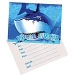 Shark Splash Party Invitation Cards