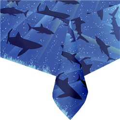 Shark Splash Party Plastic Tablecover