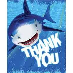Shark Splash Party Thank You Cards
