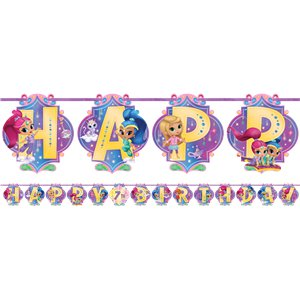 Shimmer & Shine Add an Age Letter Banner - 3.2m