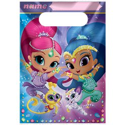 Shimmer & Shine Party Bags - Plastic Loots Bags