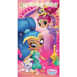 Shimmer & Shine Birthday Girl Card