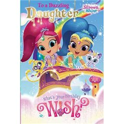 Shimmer & Shine Daughter Birthday Card