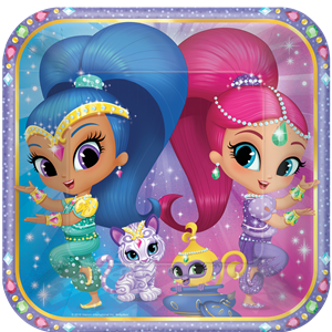 Shimmer & Shine Plates - 23cm Paper Party Plates