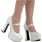 White Patent Platform -  Adult UK Size 4 Fancy Dress