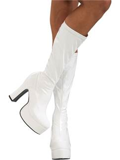 White Sexy Boots - Adult UK Size 4