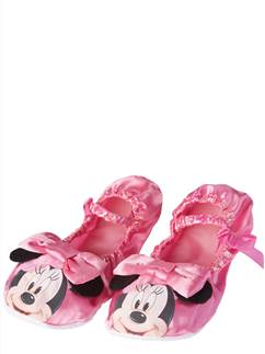 Minnie Mouse Pink Slippers - Size UK 10-12