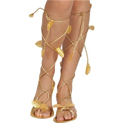 Gold Goddess Sandals - One Size - Fancy Dress Shoes front