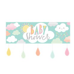 Sunshine Baby Showers Giant Banner with Attachments  - 1.5m
