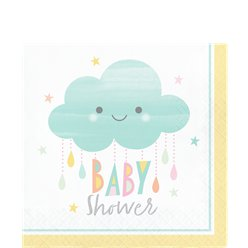 Sunshine Baby Showers Paper Napkins - 33cm