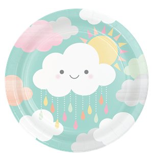 Sunshine Baby Showers Paper Plates - 23cm