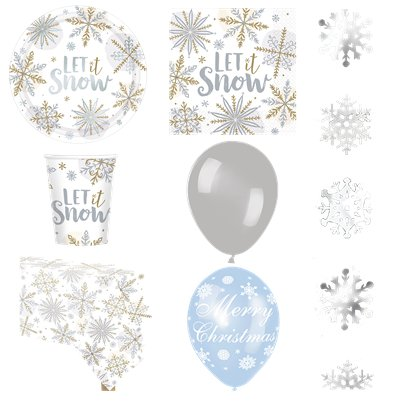 Let It Snow Party Pack - Deluxe Pack for 8