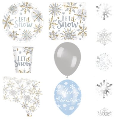 Let It Snow Party Pack - Deluxe Pack for 16