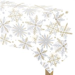 Let It Snow Paper Table Cover - 1.4m x 2.6m