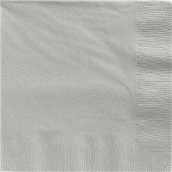 Silver Dinner Napkins - 40cm Square 2ply Paper