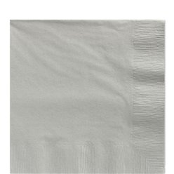 Silver Paper Luncheon Napkins - 33cm
