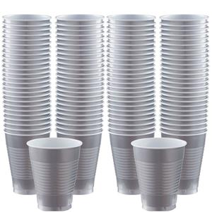 Plastic Cups 454ml 100pk (Silver)